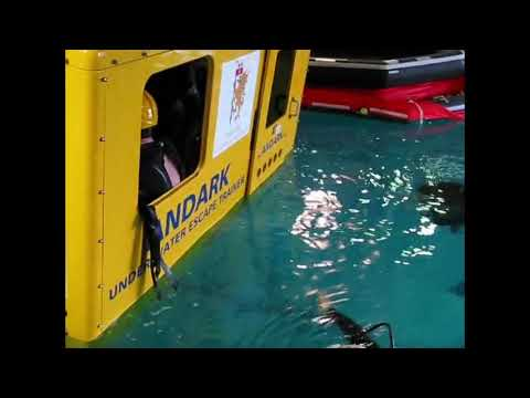Helicopter underwater escape training Warsash Maritime Academy 1