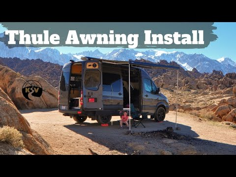 Installing A Thule Awning On A Sprinter Van Diy Sprinter