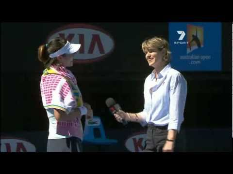 李 娜 Li Na Funny Semi Final 2011 interview  australia open tennis