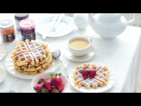 تحضير فطور صباحي سهل ولذيذ | وافلز  Waffles