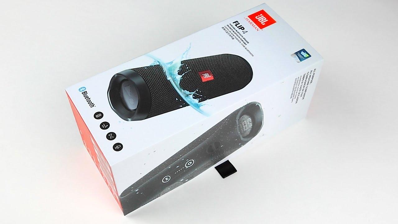 Jbl flip 4 bluetooth speaker unboxing quick sound check for Housse jbl flip 4