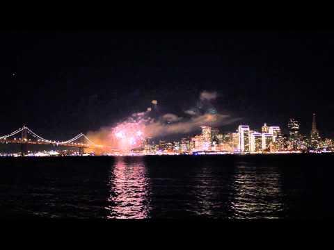 San Francisco Fireworks from Treasure Island