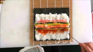 太巻き寿司の巻き方(上から) - How To Make Sushi Rolls