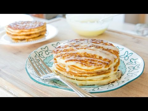 CINNAMON ROLL PANCAKES RECIPE - Breakfast and Brunch Food