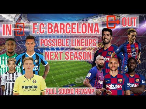 FC BARCELONA's POSSIBLE LINEUP NEXT SEASON  LATEST TRANSFER NEWS, SQUAD REVAMP FIFA EDITION 20/21  