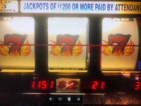 JACKPOT/ HANDPAY Blazing 7's $2 Slot Max Bet $6 ★Red Alert & Gems Slot