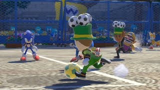 Mario and Sonic at The Rio 2016 Olympic Games Duel  Football Wii vs Blaze