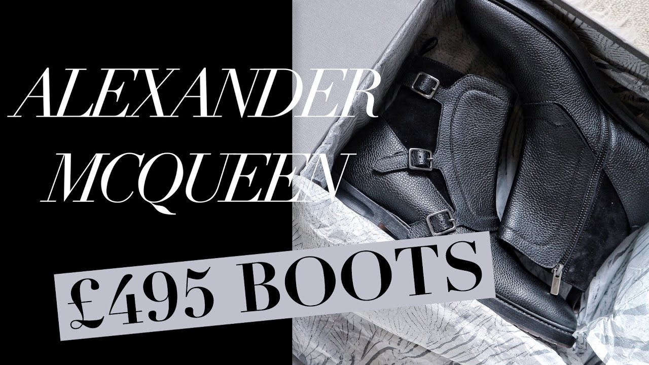 Alexander McQueen Monk-Strap Boots