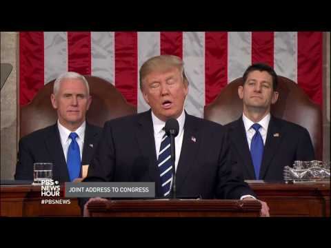 President Trump opens address to Congress by condemning