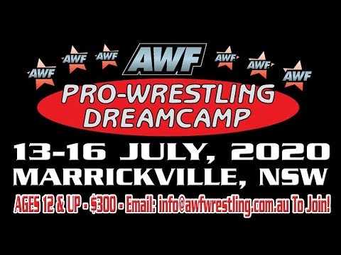 AWF Pro-Wrestling Dreamcamp 2020 Advert