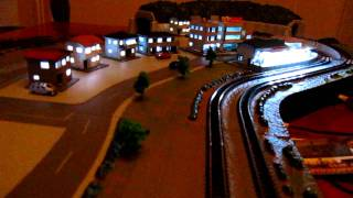 Tokyo Marui Pro Z Z scale Diorama A+B+C+D with Yamanote and Sleeping train