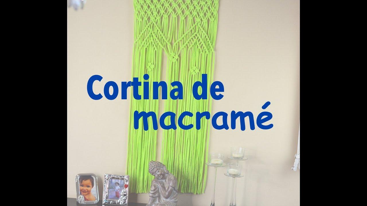 C mo hacer una cortina de macram youtube - Como confeccionar cortinas ...