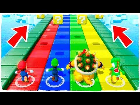 ¡Jugamos Carreras De Lucky Blocks Y Más Minijuegos En Mario Party Con TinenQa! - Manucraft