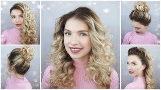 Прически для кудрявых волос. Как сделать локоны на конусную плойку? Curly Hairstyles.