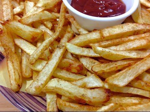 البطاطس المقلية المقرمشة Fried Potatoes Crispy & Easy