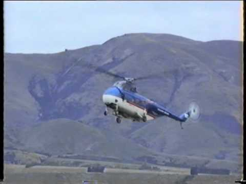 Sikorsky S55 Helicopter at Wanaka 1994.