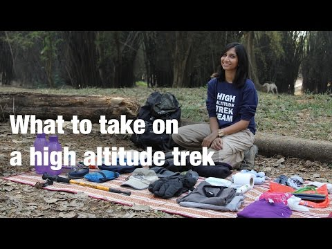 What to take on a high altitude trek