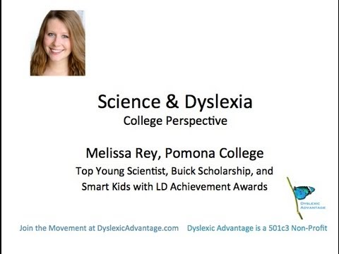 Science, College, and Dyslexia - Top Young Scientist Melissa Rey