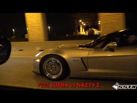 Big Turbo Supra plays with them V8s