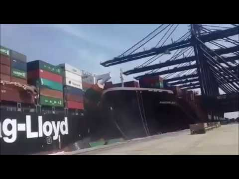 Container ship Accident At Karachi Port   Anglo Eastern Container Ship Collision