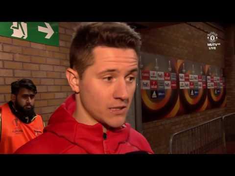 Interviews with Ibrahimovic, Mata, Herrera & Romero   Manchester United 1 0 Rostov