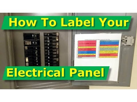 [QMVU_8575]  How To Map Out, Label Your Electrical Panel/Fuse Panel Diagram - YouTube | Blank Panel Box Wiring Diagram |  | YouTube