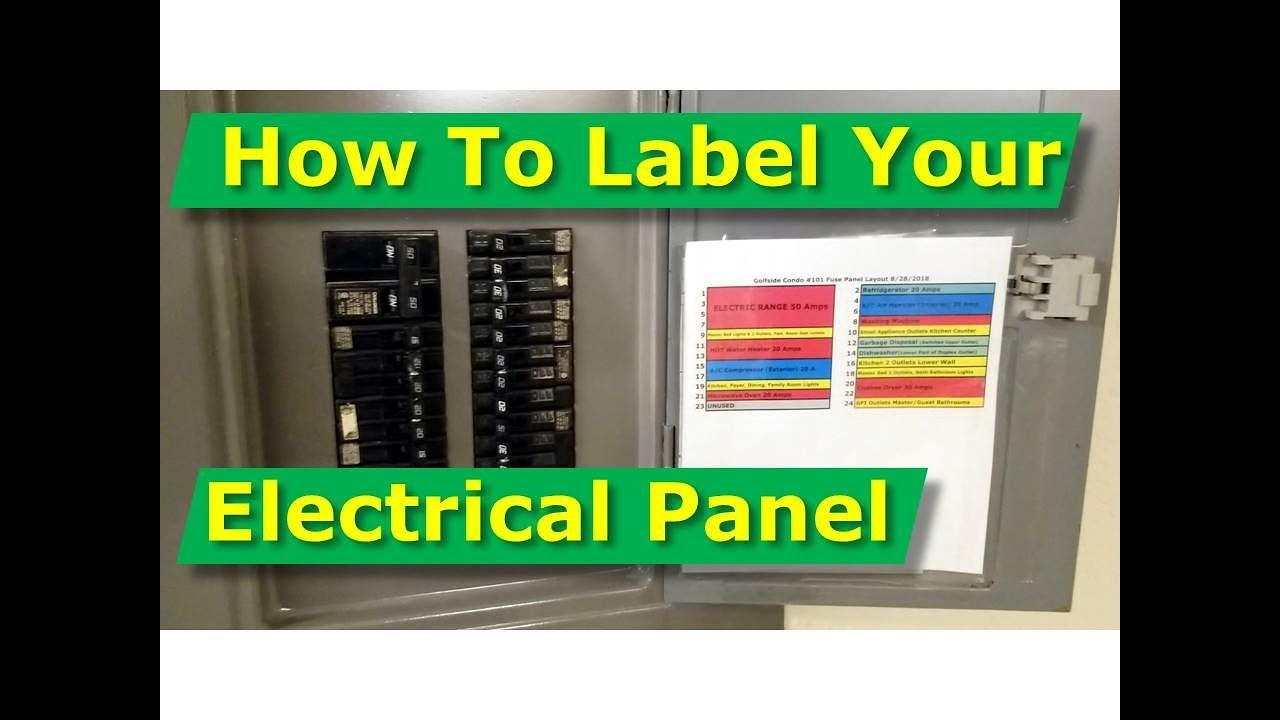 how to map out, label your electrical panel/fuse panel diagram