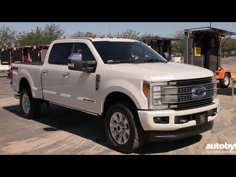 2017 Ford F 250 Super Duty Platinum Crew Cab Truck Test Drive Video Review