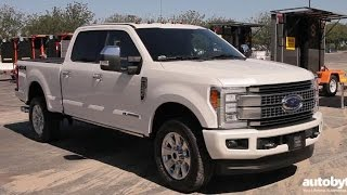 2017 Ford F-250 Super Duty Platinum Crew Cab Truck Test Drive Video Review