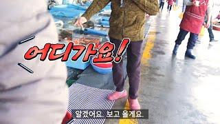 [ENGSUB] 수산시장 호객행위 뚫고 내맘대로 흥정해서 골라먹기(속초 동명활어센타 자연산 잡어회와 망챙이 매운탕), in Korean Traditional Market