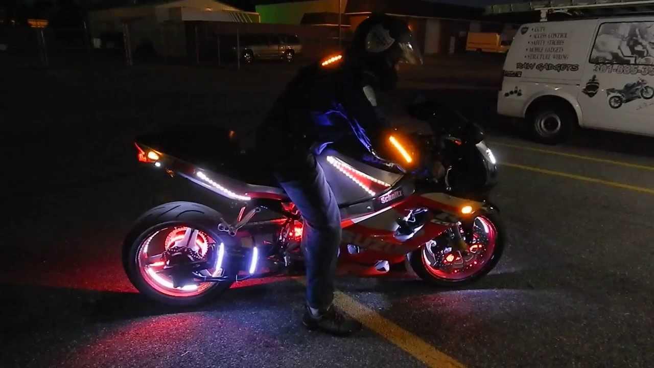 Best Motorcycle Jacket >> Best Motorcycle wheel/ LED Lights & Jacket - YouTube