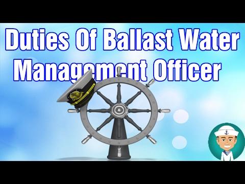 Duties Of Ballast Water Management Officer