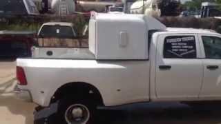 """White 42"""" DOT Sleeper on 2014 Dodge"""