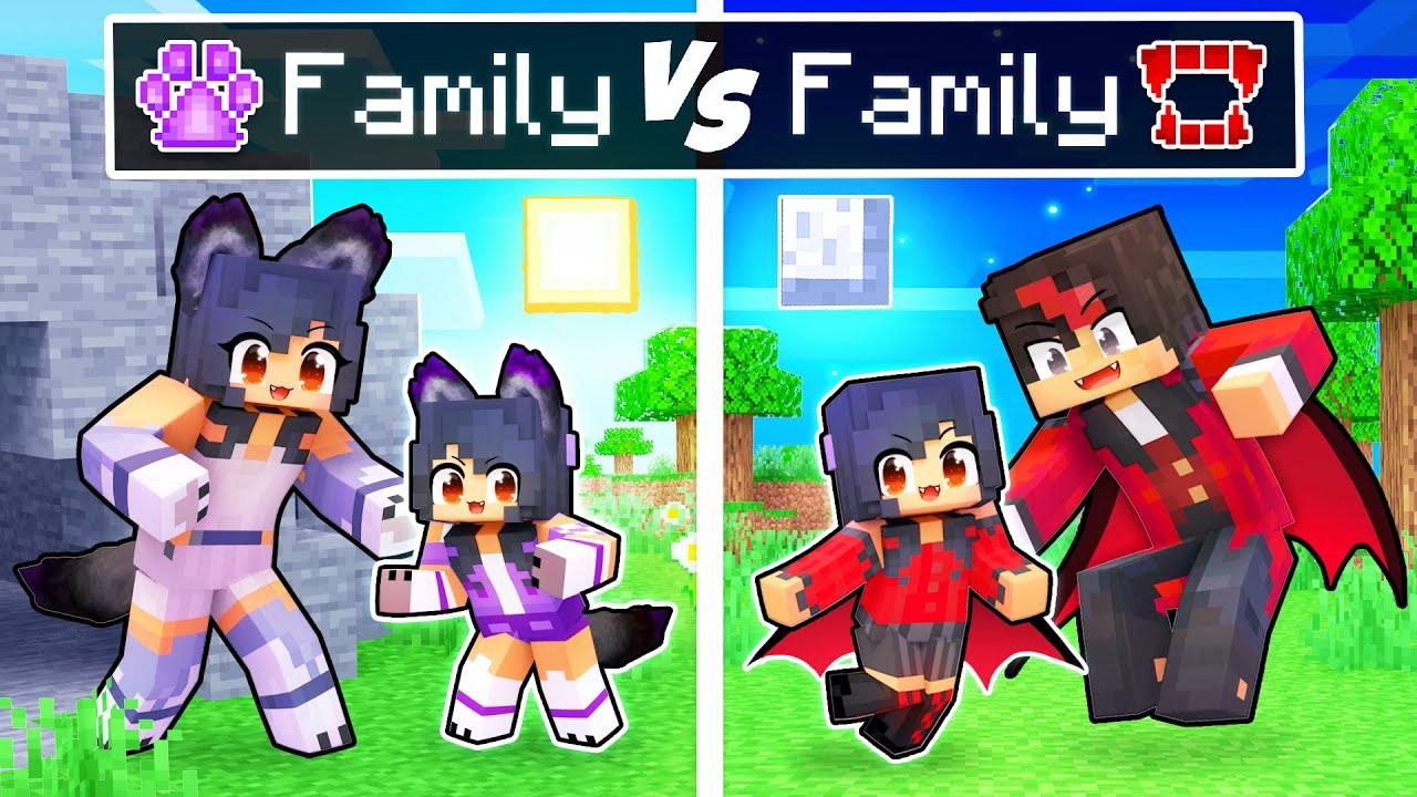 Minecraft WEREWOLF Family vs VAMPIRE Family!