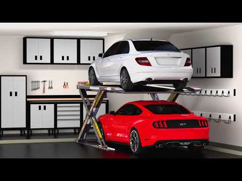Autostacker Home Car Lift System - YouTube