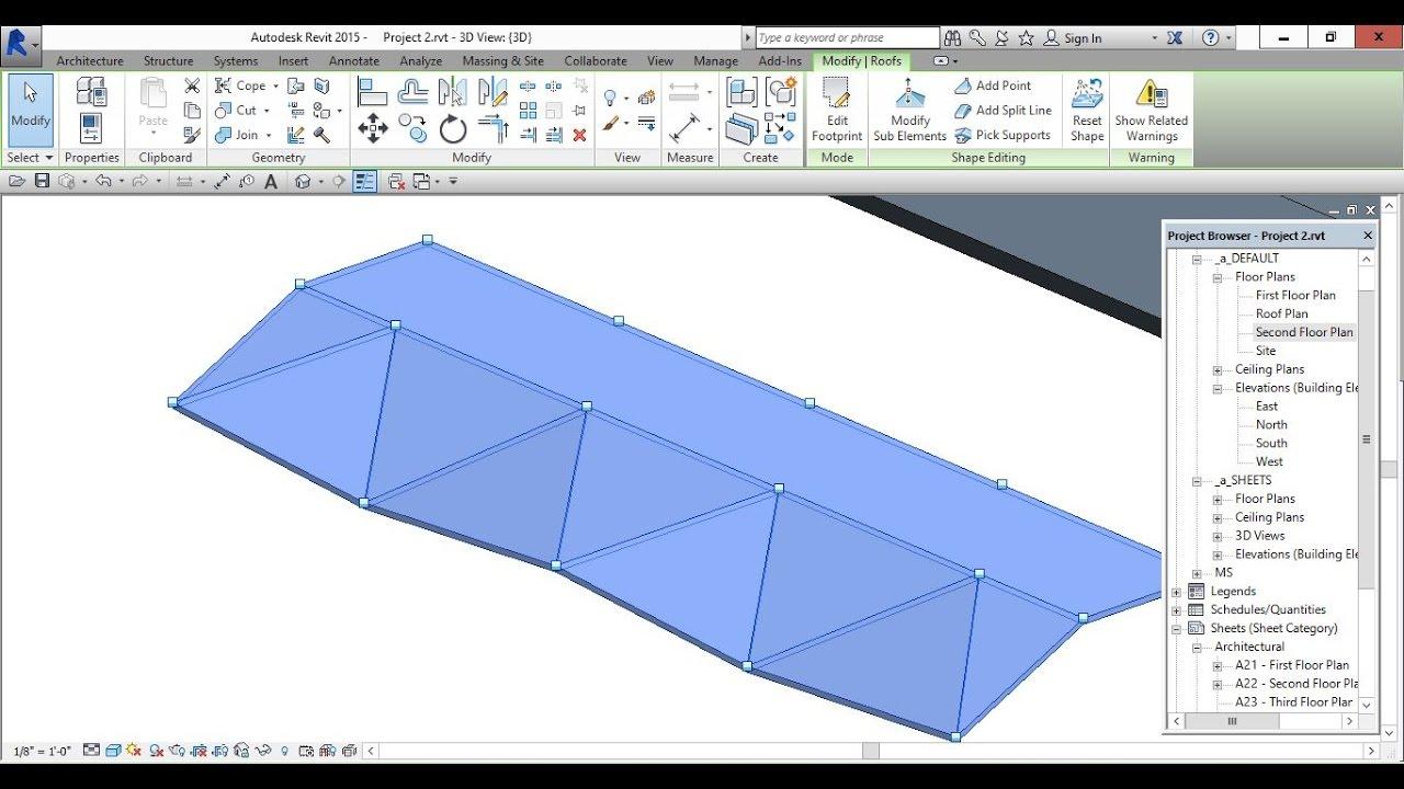 Roof Modelling In Revit Part 2 Youtube