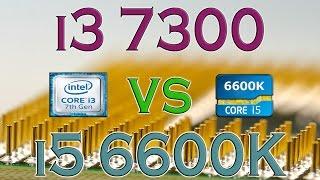 i3 7300 vs i5 6600k benchmarks gaming tests review and comparison kaby lake vs skylake