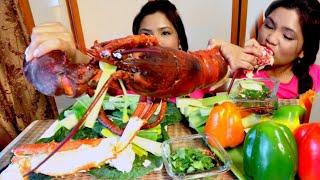 ĂN TÔM HÙM và Cua HOÀNG ĐẾ HẤP TỎI TÂY (giáng sinh nhà giàu có sướng như mình nghĩ??)