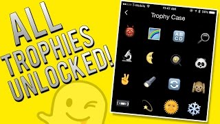 How To Unlock ALL Snapchat Trophies - Full Achievement List(ITS FINALLY HERE! The Full list of Snapchat trophies and now to unlock ALL of them! Sorry once again for now having the last two, but I will be working on them ..., 2015-09-26T16:17:13.000Z)