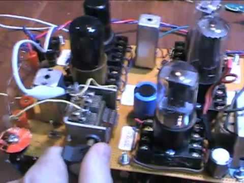 Homemade AA5  tube radio