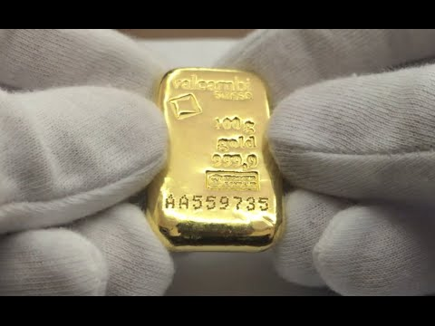 Valcambi 100 Gram 9999 Gold Cast Bar