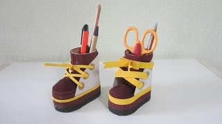TUTORIAL -  Corrugated Papercraft Pencil Holder
