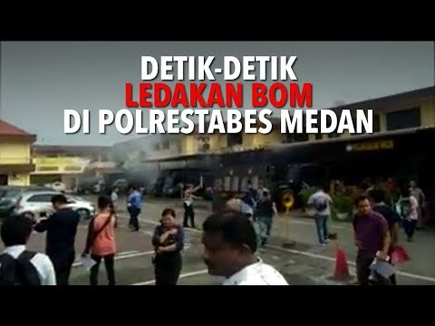 Detik-detik Ledakan Diduga Bom Di Polrestabes Medan