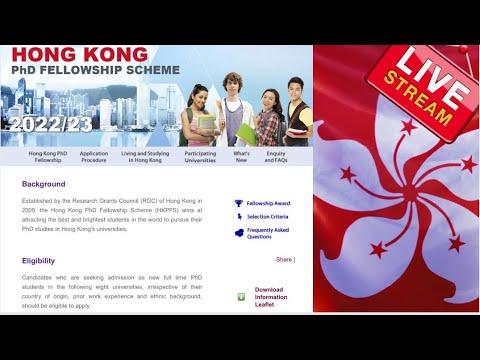 Hong Kong Ph.D. Fellowship Scheme for 2022/2023 (Scholarships for international students)