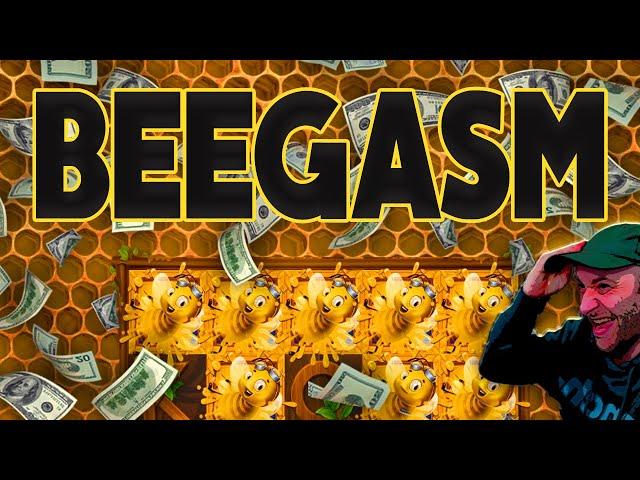 Beegasm! Wild Swarm, Big Win, Wild Line!
