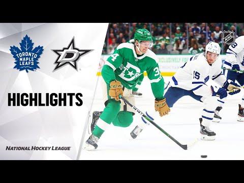 NHL Highlights | Maple Leafs @ Stars 1/29/20
