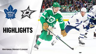 Nhl Highlights | Maple Leafs @ Stars 1/29/20