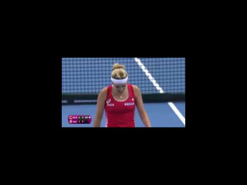Timea Bacsinszky Vs Aryna Sabalenka - Fed Cup 2017