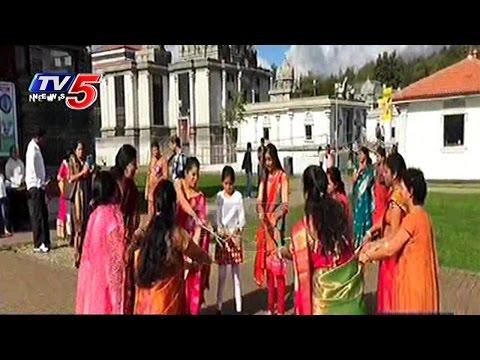 Bathukamma Festival Celebrations In Europe | Telugu News | TV5 News