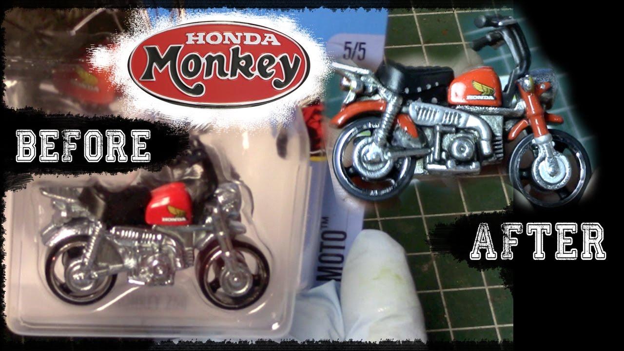 detailing hot wheels honda monkey  minibike fun diy youtube
